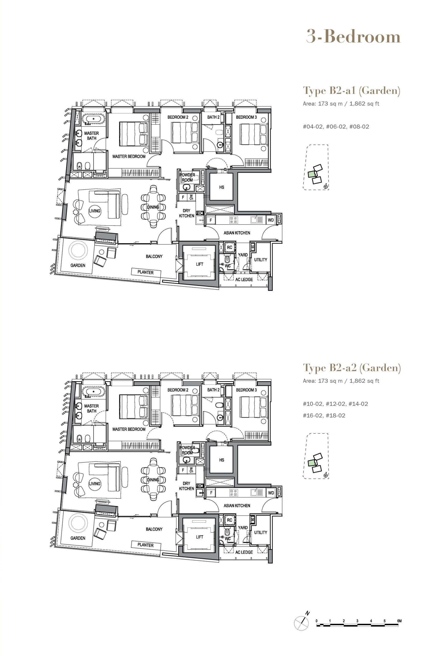3 orchard by-the-park floor plan wilderness 3 Bedroom