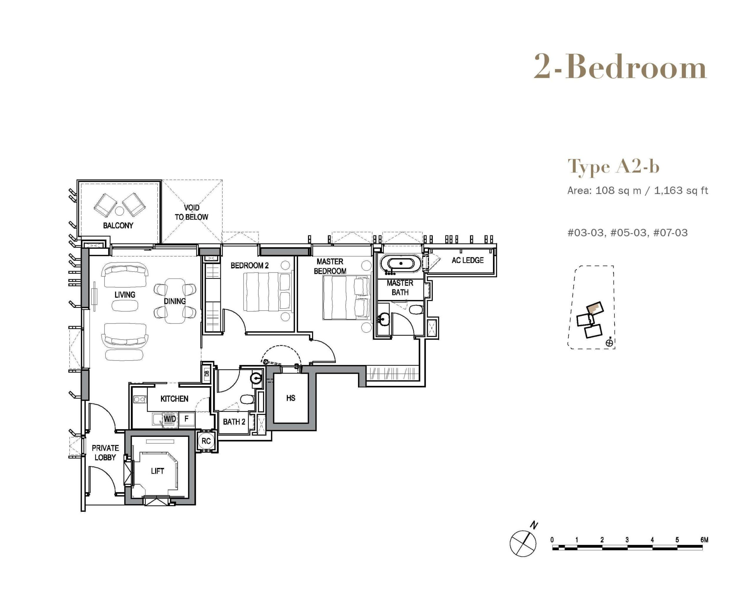 3 orchard by the park floor plan wood 2 bedroom A2b scaled